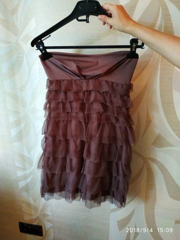 Bakı şəhərində Платье новое без бретелек ткань: полиэстр  размер S цвет коричневый