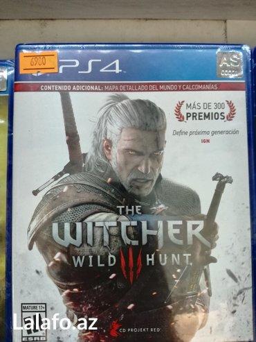 Bakı şəhərində The witcher wild hunt playstation 4