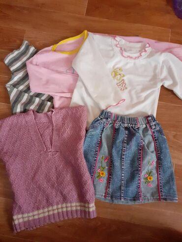 Пакет вещей на девочку 3-4 года состояние для дома
