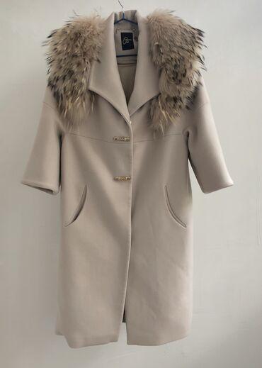 r 44 46 в Кыргызстан: Продаю Турецкое пальто в отличном состоянии. С мехом  Размер 44-46
