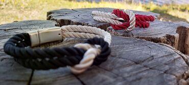 Magnet - Srbija: Sea Rope narukvica, mornarski čvor odlika čvrste i duge veze. Poklon