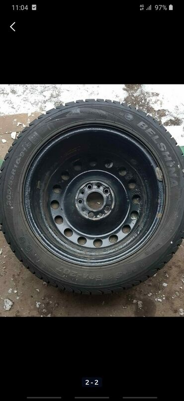 шины r18 в Кыргызстан: Обмен ДВА ДИСКА НА ОДНУ.Железная R16 с шинами 3шт.Титан R15 ORIGINAL