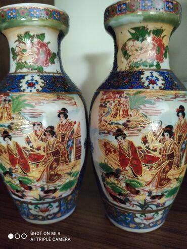Антикварные вазы - Бишкек: Продаю декоративные вазочки. Высота ~15-20 см