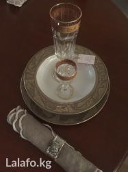 Тарелка с позолотой производства в Бишкек