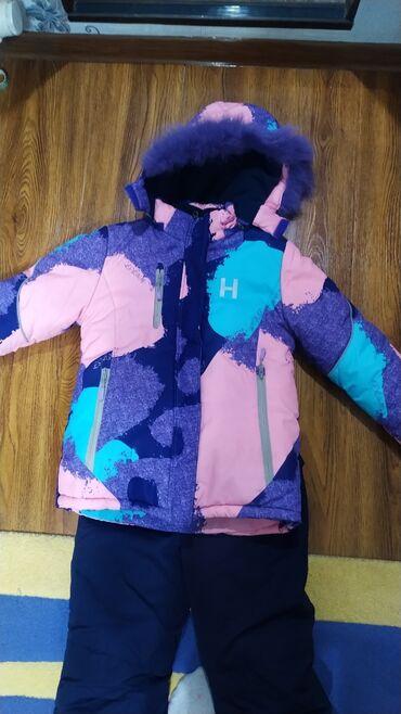 Зимний лыжный детский костюмНа 8-10 летМегатеплый, идеальное состояние
