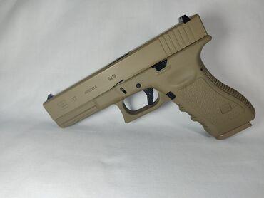 Пластиковый шифер - Кыргызстан: Страйкбольный пистолет E&C Glock-17 gen-3,стреляет утяжеленным 6мм