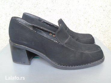 Antilop cizmuce - Srbija: Polovne cipele proizvodjaca jovicic, broj 37, od crne antilop koze. U