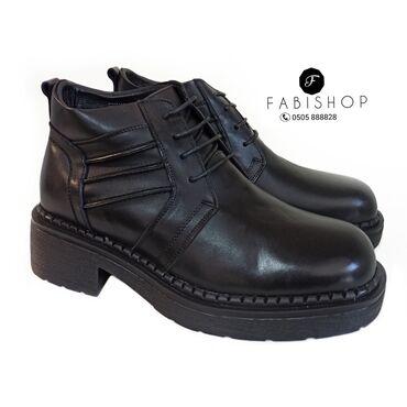 Кожаные ботинки. Натуральный мех