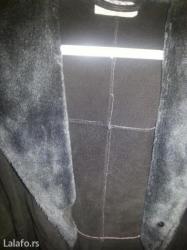 Hemijsko ciscenje - Srbija: Crna kozna jakna od prevrnute koze iz parcadi malo nosena. Ne treba