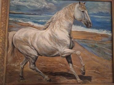 Другие предметы коллекционирования - Беловодское: Картина 3000 сом раз. 1м 90 см