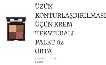 Kosmetika - Xırdalan: Uz ucun korreksiya paleti krem teksturali 1 korrektor,2 baza ve 1
