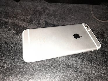 apple ipod 8gb в Кыргызстан: Б/У iPhone 6 64 ГБ Серебристый