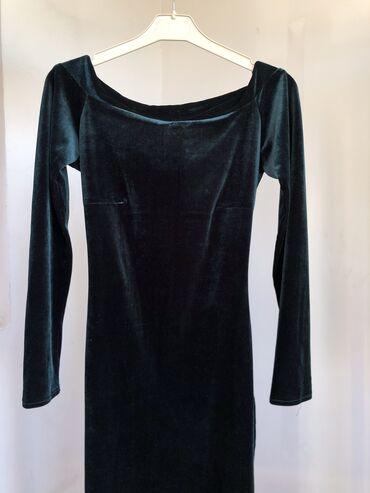 вечернее платье до колен в Кыргызстан: Изумрудное, очень красивое платье. Сидит по фигуре шикарно. Чуть ниже