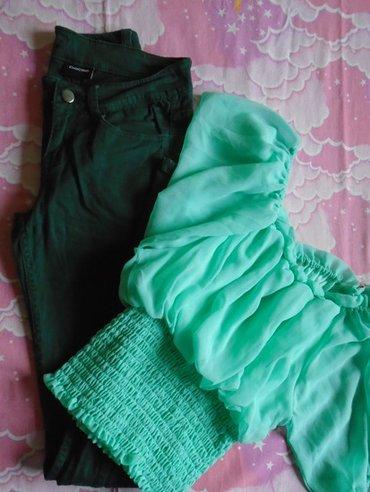 Skinny farmerke, divne zelene boje, brenda pieces. Bile su podvijene - Belgrade