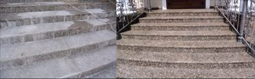 Очистка крыльца из натурального камня в Бишкек