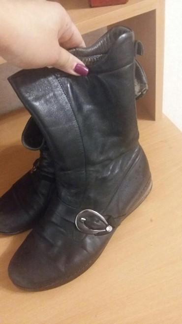 Продаю зимние теплые ботинки. 100%натуральный мех и кожа.турция. в Бишкек
