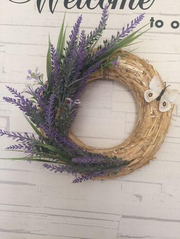 Kućni dekor - Zrenjanin: Vencic za vrata, zid. savrsen I kao poklon. Lavanda, cvece je vestac
