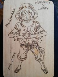 Πυρογραφια Lufy One piece Anime pyrography  σε Serres