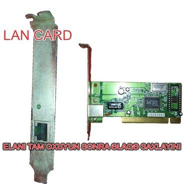 Bakı şəhərində Lan card. Stolüstü kompüter üçün PCI Lan Card. İşlək
