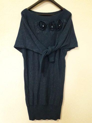 Zimska haljinica od lamiranog konca.  Veličina je s/m mada je dosta - Nis
