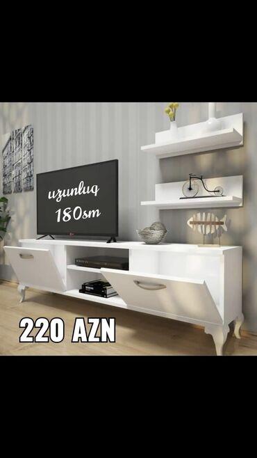 Tv stend sifarisle hazirlanir reng ve olcu secimi var 220 azn