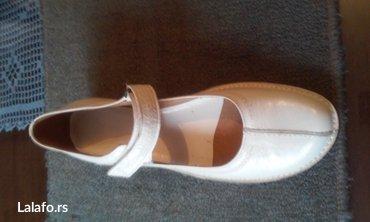 Nove bele kozne cipele broj 40  u originalnoj kutiji.Gaziste 26,5 cm, - Zrenjanin