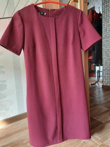 платья свободного кроя для полных в Кыргызстан: Короткое платье, размер S