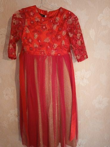 Вечернее платье для девочки 8-10л, один раз только одели,700с в Лебединовка