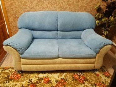 Продаю диван двух местный и кресло. Диван не в Бишкек