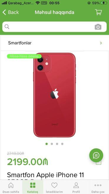 apple 6 - Azərbaycan: Yeni IPhone 11 256 GB Qırmızı
