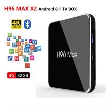 телефон флай 141 тв в Азербайджан: Smart TV Box H96Max X2   Смарт тв бокс - Istenilen televizora qoshula