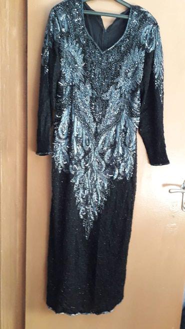 вечернее платье ручной работы в Кыргызстан: Вечернее черное платье ручной работы, бисерная вышивка сзади такая же