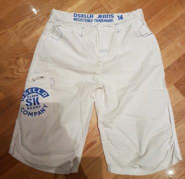 Pantalone sjajne - Srbija: Osella jeans bele bermude za decake. fazonske. prakticno nove! Lagane