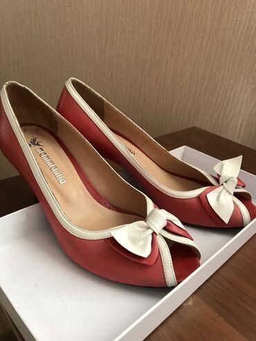 Женские красивые туфли с открытым носиком, размер 38