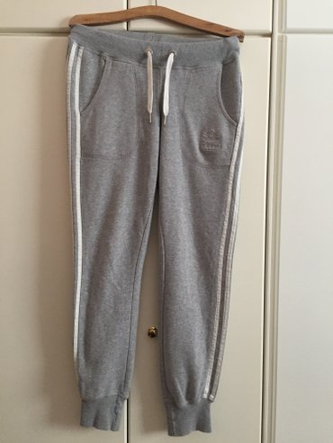 Adidas originals light grey 3 striped athletic cotton leggings with 2  σε Αγία Βαρβάρα