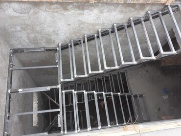 Лестница каркас и деревянный общивки,лестница каркас, тепкич, темир