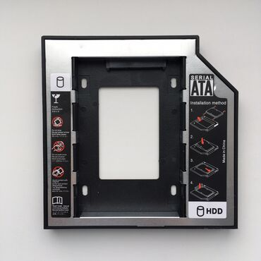 Second Caddy HDD для ноутбуков вместо DVD 12.7 mm SATA-SATA