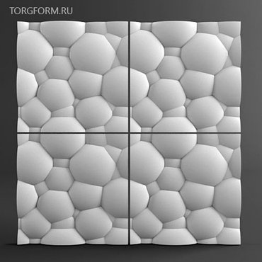 3d панели из гипса, 3д панели, декоративные камни из гипса от производ в Шопоков