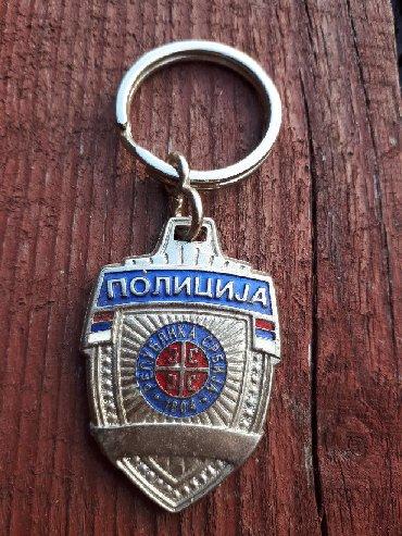 Strug za metal - Srbija: Policija privezak. Nov. Kvalitetan. Metal. 200 din