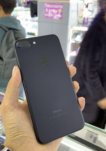 айфон 7 цена in Кыргызстан   APPLE IPHONE: IPhone 7 Plus   128 ГБ   Черный Б/У   Гарантия, Отпечаток пальца, С документами