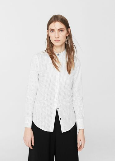Идеальная рубашка для офиса Mango размера L 100% хлопок в идеальном со
