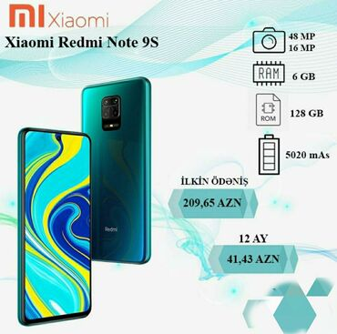 Yeni Xiaomi Redmi Note 9S 128 GB