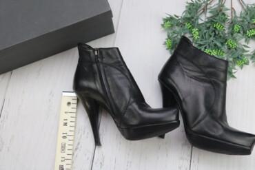 женские ботинки на каблуке в Азербайджан: Ботильоны женские кожаные Baldinini  Бренд: Baldinini  Цвет: черный М