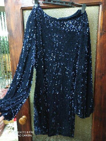 вечернее платье до колен в Кыргызстан: Блестящее платье с паетками 44-46 взади замочек 500с как новое