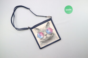 Аксессуары - Киев: Жіноча сумка зі стильним принтом кота    Висота: 28 см Довжина: 27 см