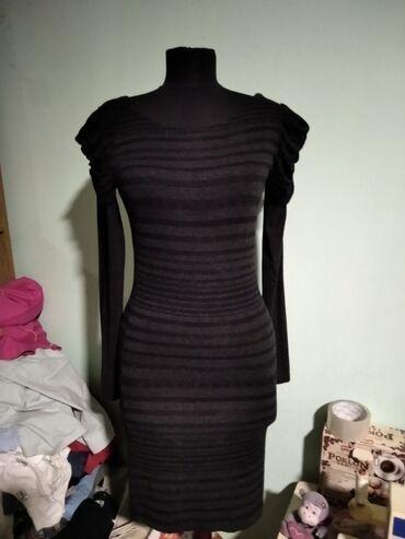 Crno Siva haljina univerzalne Izuzetno rastegljiva puna elastina sa