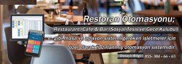 Bakı şəhərində Restoran Otomasyonu. Restoran , kafe, fastfood, fitnes bar, cay evi