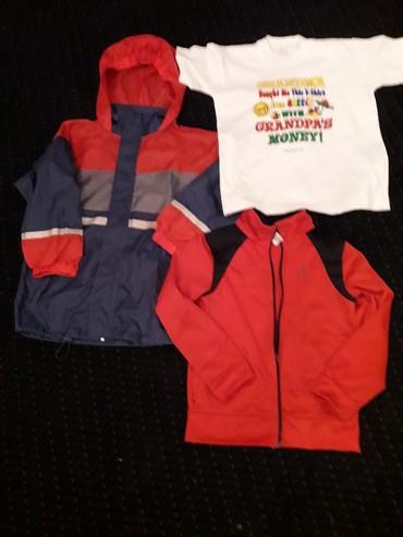 Gornji-deo-b - Srbija: Paket odeće za dečaka 7-8 g šuškava jaknica sa kapuljačom, gornji deo