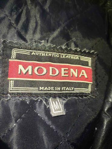 Ženski kaputi - Srbija: Kožni italijanski mantil, M veličina, bez oštećenja