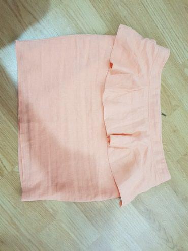 Prelepa roze lanena suknja  velicina: m - Loznica
